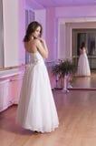 Girl in wedding dress Stock Images