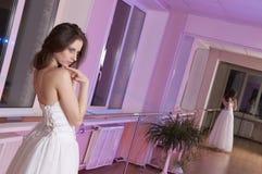 Girl in wedding dress Stock Photo