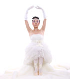 Girl in wedding dress Stock Image