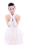 Girl in wedding dress Stock Image