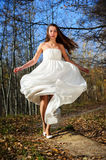 Girl in wedding dress Royalty Free Stock Photography