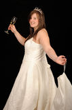 Girl in wedding gown Stock Photos