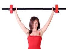 Girl weight lifter Stock Photos