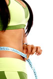 Girl - weight loss Royalty Free Stock Images