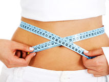 Girl - weight loss Royalty Free Stock Photos