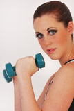 Girl in weight training Royalty Free Stock Photography
