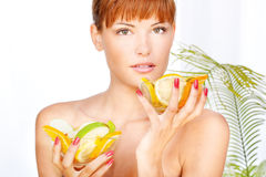 Girl in a wellness salon Stock Image