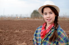 Girl in western clothes Royalty Free Stock Image
