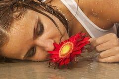 Girl wet Stock Photo