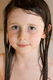 Girl with wet hair Stock Photo