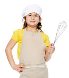 Girl with whisk Royalty Free Stock Photography