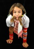 Girl with the whiskers Stock Image