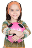 Girl whit ball Royalty Free Stock Photography