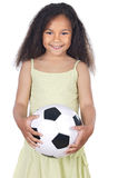 Girl whit ball Royalty Free Stock Photo