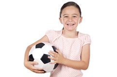 Girl whit ball Royalty Free Stock Image