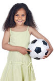 Girl whit ball Royalty Free Stock Photos