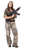 Girl whit gun Royalty Free Stock Photography