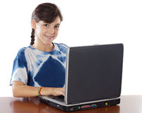 Girl whit laptop Stock Image