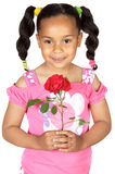 Girl whit one rose Royalty Free Stock Photography