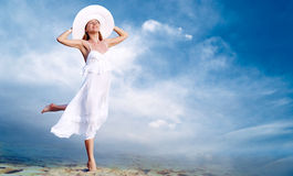 Girl in white Royalty Free Stock Photo
