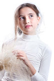 Girl in white Royalty Free Stock Photo
