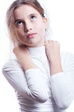 Girl in white Royalty Free Stock Image