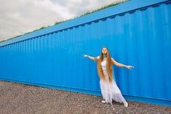 Girl in white Stock Photo