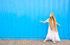 Girl in white Royalty Free Stock Image