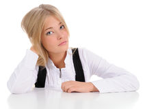 The girl on white Stock Images