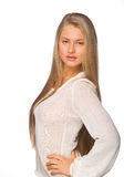 Girl in a white Royalty Free Stock Image