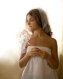 Girl in white Royalty Free Stock Photos