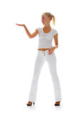 Girl in white Stock Photography