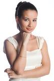 Girl in white Stock Photos
