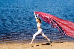 Girl in white Stock Image