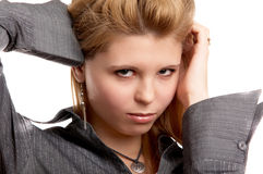 Girl on white background Stock Images