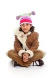 Girl On White Background Stock Photos