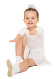 Girl in white ball gown Royalty Free Stock Image