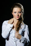 Girl in white blouse Stock Photography