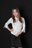 The girl in a white blouse Royalty Free Stock Photography
