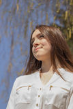Girl in white blouse Royalty Free Stock Image