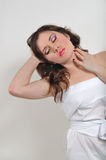 Girl in a white cloth Royalty Free Stock Photos