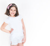 The girl in white clothes Stock Photo