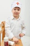 Girl in white clothes Stock Photos