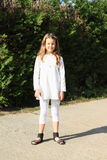 Girl in white clothes Royalty Free Stock Photos