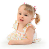Girl on white Royalty Free Stock Photography