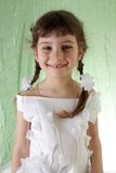 Girl in white dress. Royalty Free Stock Images