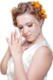 Girl in white dress Royalty Free Stock Photos