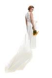 Girl in white dress Royalty Free Stock Image
