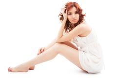 Girl in white dress Royalty Free Stock Photo