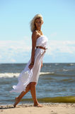 Girl in white dress Royalty Free Stock Images